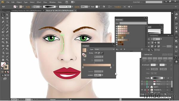 Adding a nose: Illustrator for Fashion Design: Drawing Flats