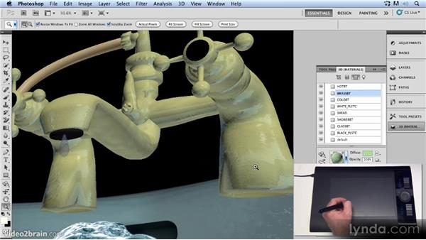 Adding reflections: Up and Running with 3D in Photoshop CS5 Extended
