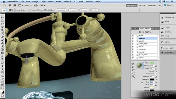 Changing the specular light: Up and Running with 3D in Photoshop CS5 Extended