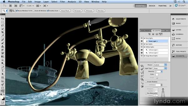 Rendering the 3D object: Up and Running with 3D in Photoshop CS5 Extended