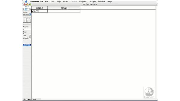 find mode: FileMaker Pro 7 Essential Training