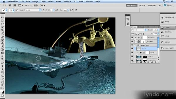 Painting steam: Up and Running with 3D in Photoshop CS5 Extended