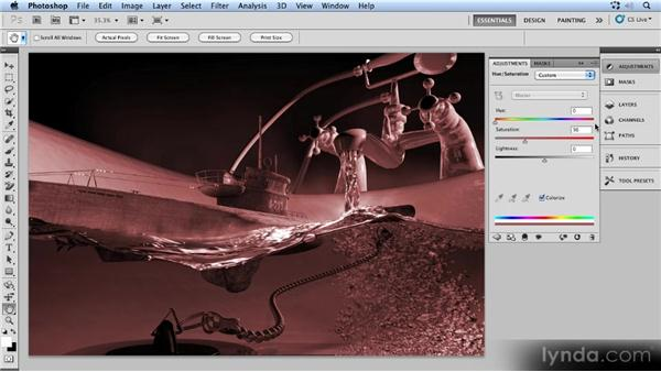 Final adjustments: Up and Running with 3D in Photoshop CS5 Extended