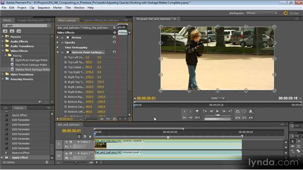 Working with garbage mattes: Compositing with Premiere Pro CS5.5