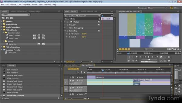 Understanding luma keys: Compositing with Premiere Pro CS5.5