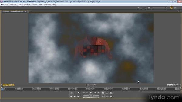 An example luma key: Compositing with Premiere Pro CS5.5