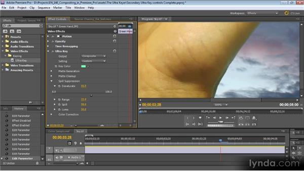 Secondary Ultra Key controls: Compositing with Premiere Pro CS5.5