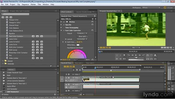 Nesting sequences and working with effects: Compositing with Premiere Pro CS5.5