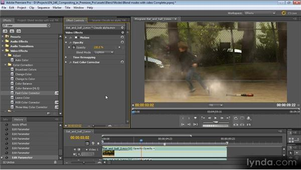 Using blend modes with video clips: Compositing with Premiere Pro CS5.5
