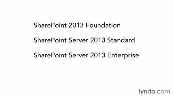 Understanding SharePoint products: SharePoint 2013 Essential Training