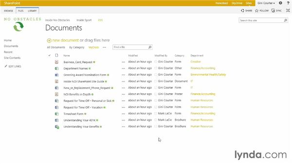 Creating a dynamic view: SharePoint 2013 Essential Training