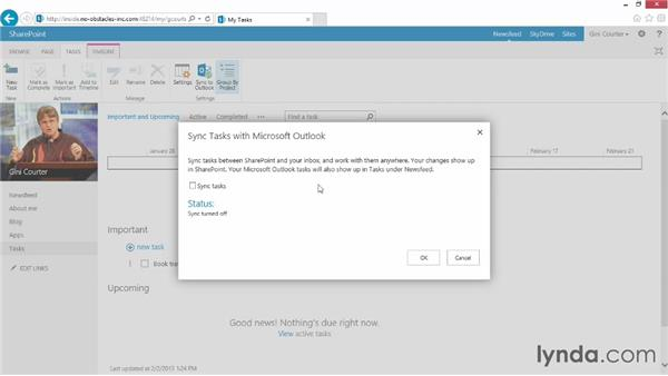 Keeping track of your tasks: SharePoint 2013 Essential Training