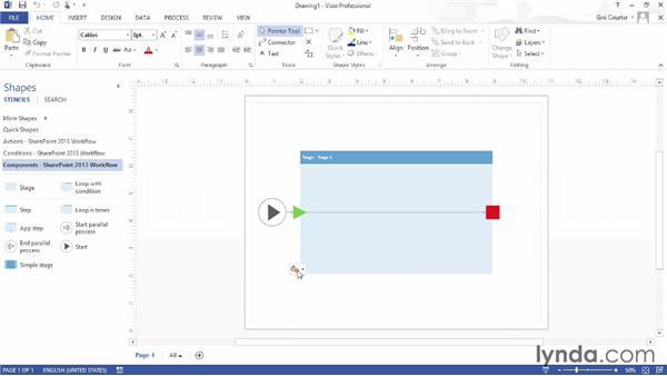 Creating workflows with Visio Premium 2013: SharePoint 2013 Essential Training