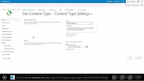Creating a document set: SharePoint 2013 Essential Training