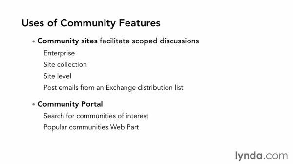 Using community sites to share across teams: SharePoint 2013 Essential Training