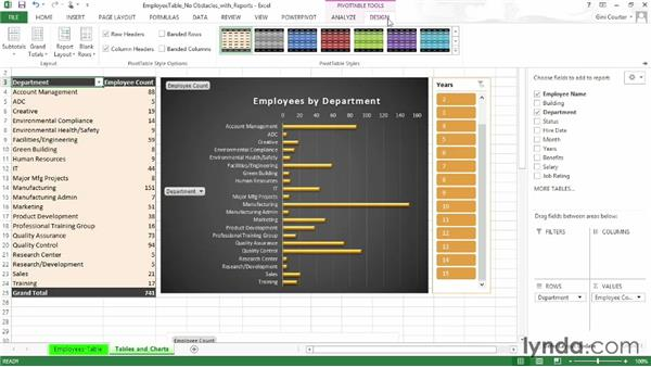 Preparing a workbook for sharing with Excel services: SharePoint 2013 Essential Training