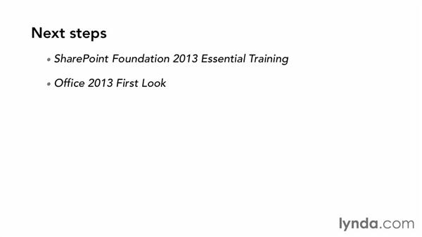 Goodbye: SharePoint 2013 Essential Training