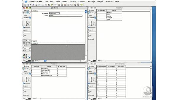 creating layouts: FileMaker Pro 7 Essential Training
