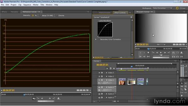 Curve controls: Color Correction with Premiere Pro CS5.5