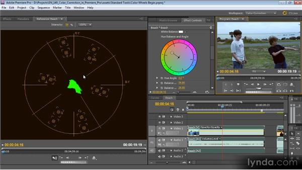 Color wheels: Color Correction with Premiere Pro CS5.5