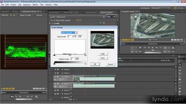 Levels: Color Correction with Premiere Pro CS5.5