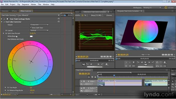 An overview of the Fast Color Corrector: Color Correction with Premiere Pro CS5.5