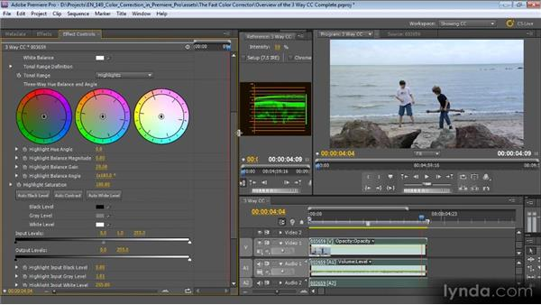 An overview of the Three-Way Color Corrector: Color Correction with Premiere Pro CS5.5