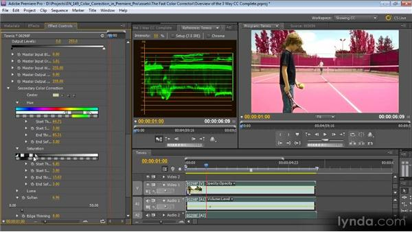 Using the Three-Way Color Corrector: Color Correction with Premiere Pro CS5.5