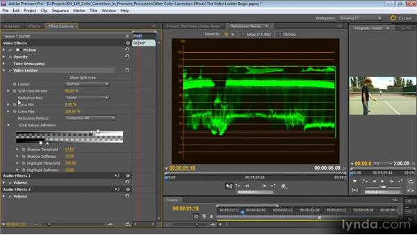 The Video Limiter effect: Color Correction with Premiere Pro CS5.5