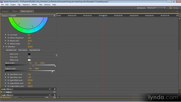Example one: Keyframes: Color Correction with Premiere Pro CS5.5