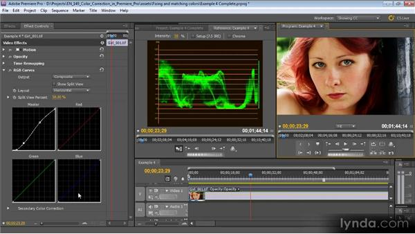 Example four: Creating a look with curves: Color Correction with Premiere Pro CS5.5