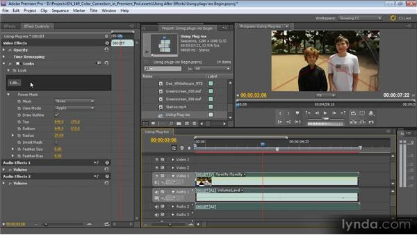 Using third-party plugins with Premiere Pro: Color Correction with Premiere Pro CS5.5