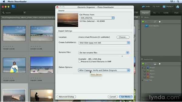 Importing photos from a camera or card reader: Getting Started with Photoshop Elements 10