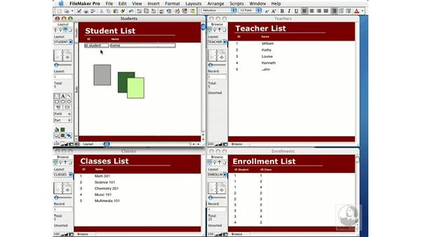 group layout objects: FileMaker Pro 7 Essential Training