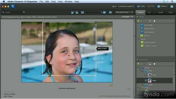 Using People Recognition: Getting Started with Photoshop Elements 10