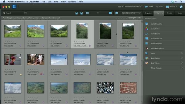 Auto fixes: Getting Started with Photoshop Elements 10