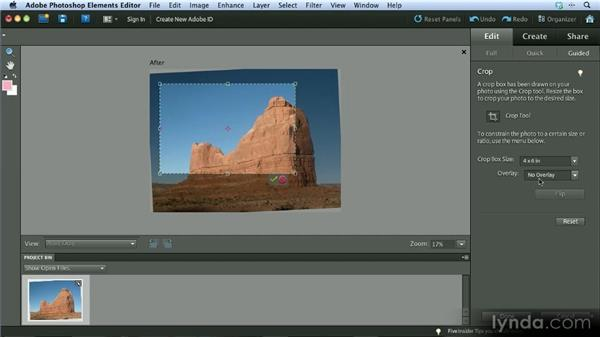Cropping and straightening: Getting Started with Photoshop Elements 10
