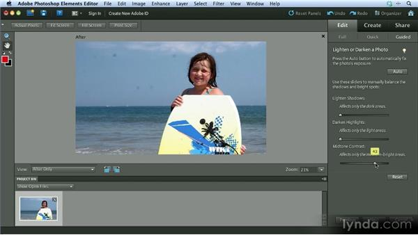 Working in Guided Edit mode: Getting Started with Photoshop Elements 10