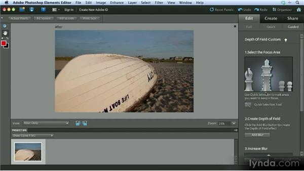 The Depth of Field effect: Getting Started with Photoshop Elements 10