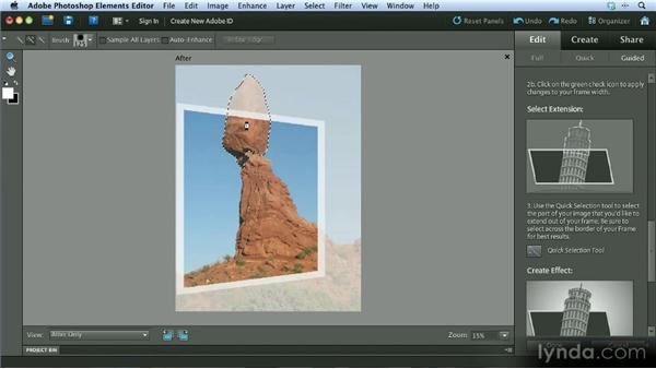 The Out of Bounds effect: Getting Started with Photoshop Elements 10