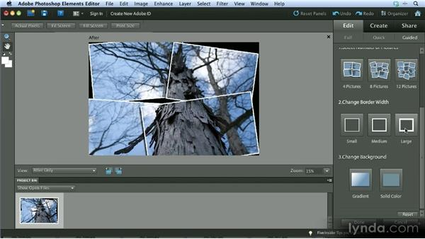 The Picture Stack effect: Getting Started with Photoshop Elements 10