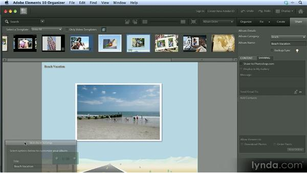 Sharing photos: Getting Started with Photoshop Elements 10