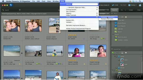 Help resources: Getting Started with Photoshop Elements 10