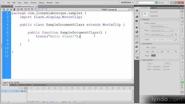 Compiling and debugging: Getting Started with ActionScript