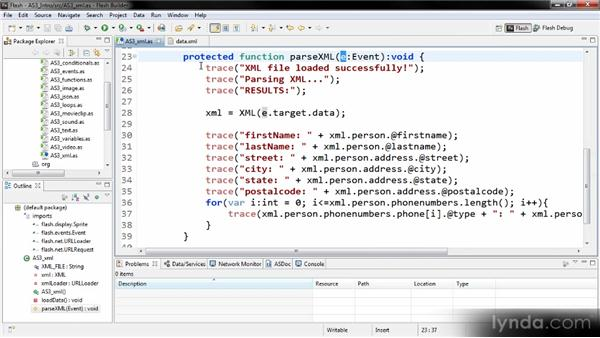 XML: Getting Started with ActionScript