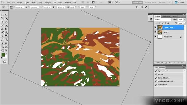 Shapes and layers: Creating a Digital Painting with Photoshop CS5