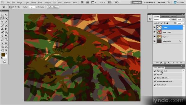 Using the Polygonal Lasso tool: Creating a Digital Painting with Photoshop CS5