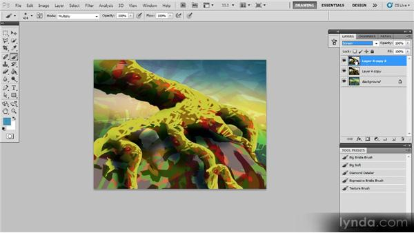 Enhancing the light in the scene: Creating a Digital Painting with Photoshop CS5
