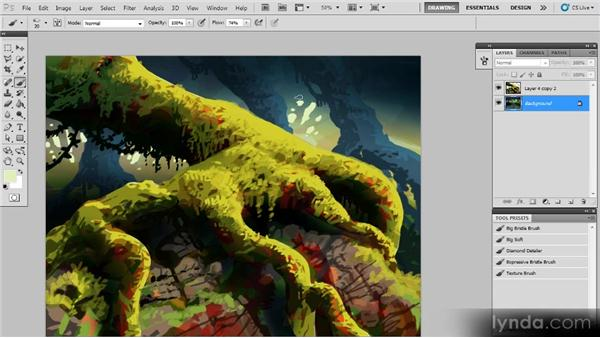 Painting the background: Creating a Digital Painting with Photoshop CS5