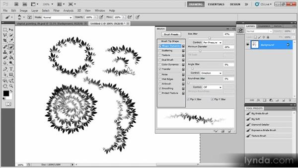 Creating a leaf brush: Creating a Digital Painting with Photoshop CS5